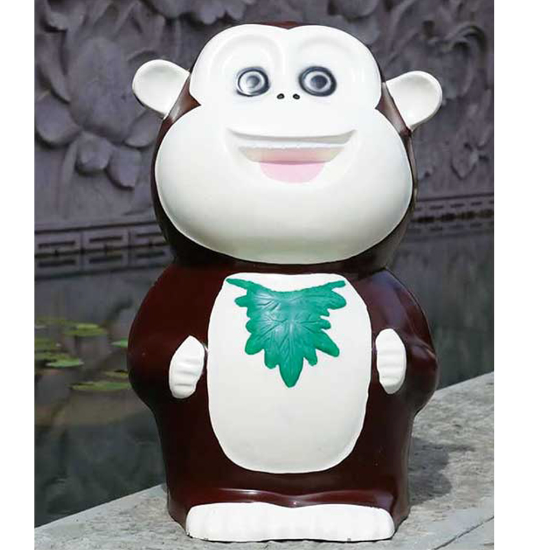 猴子垃圾桶