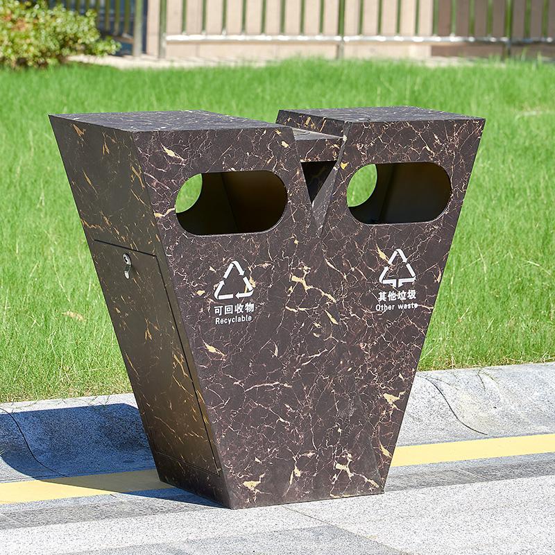 不锈钢异形垃圾桶