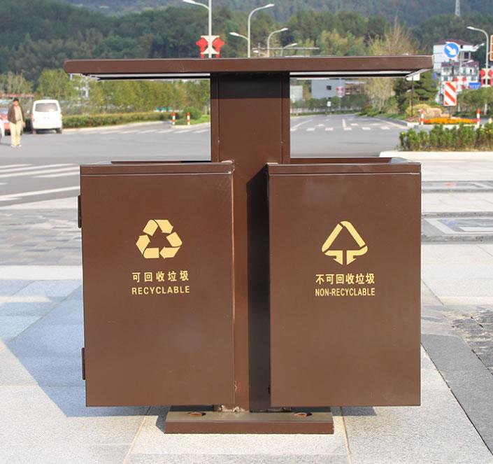 仿古中国风垃圾桶市政