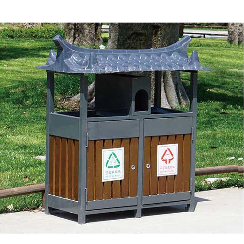 钢木垃圾桶1
