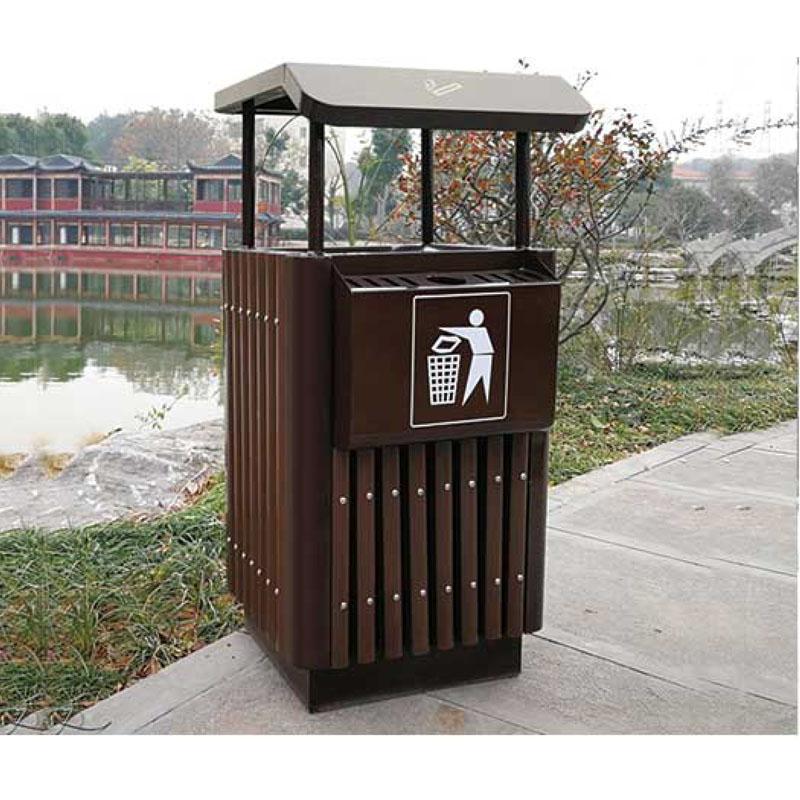 钢木垃圾桶3