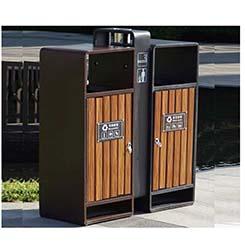 钢木垃圾桶03
