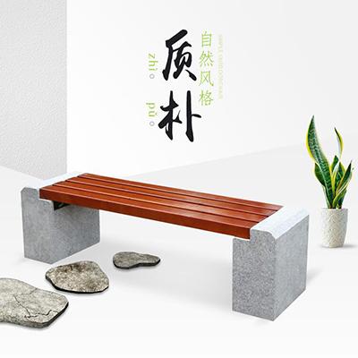 钢木公园条凳6