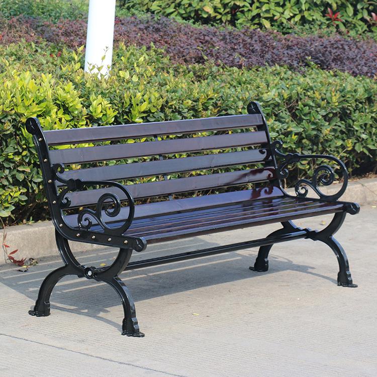 铸铁户外条椅款式2
