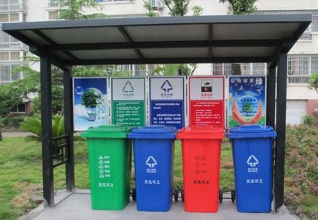 重庆垃圾桶厂家开始推户外四分类垃圾桶