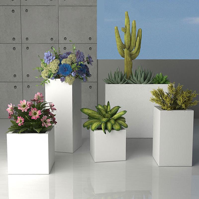 玻璃钢可移动花箱