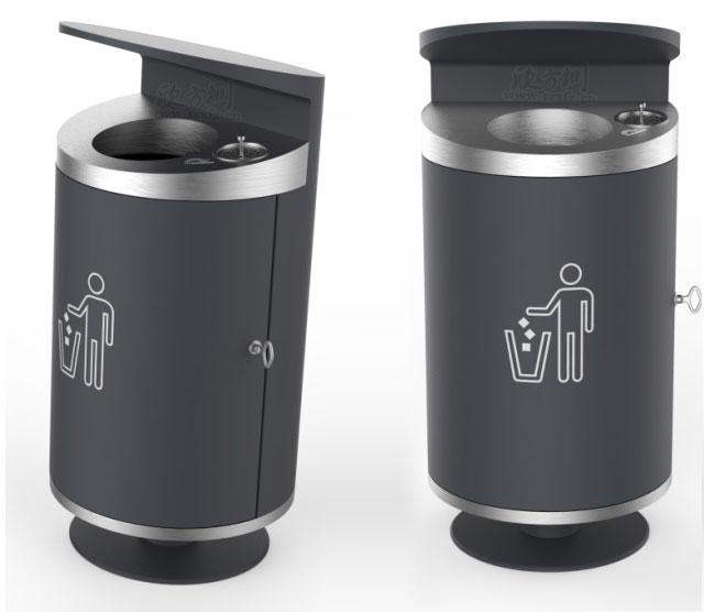 垃圾桶厂家为重庆提供了这款道路垃圾桶